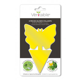 8 yellow butterfly sticky...